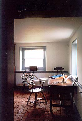 View of the interior of the Farmington Plantation Museum House